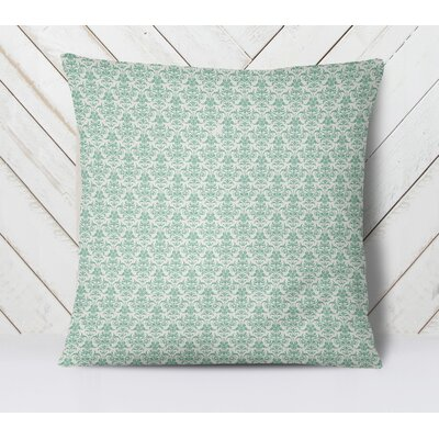 Diana Throw Pillow Color: Green, Size: 18 H x 18 W