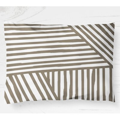 Orion Lightweight Pillow Sham Color: Brown, Size: King
