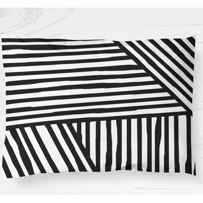 Domenico Lightweight Pillow Sham Size: Standard, Color: Black