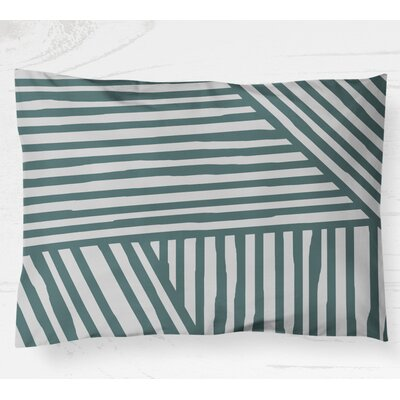 Domenico Lightweight Pillow Sham Size: King, Color: Teal