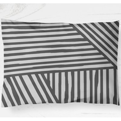 Orion Lightweight Pillow Sham Size: Standard, Color: Gray