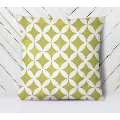 Persephone Throw Pillow Size: 16 H x 16 W, Color: Yellow