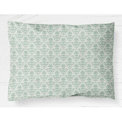 Diana Lightweight Pillow Sham Size: King, Color: Green