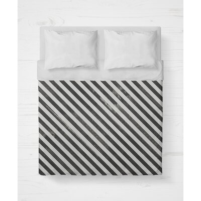 Mellina Lightweight Duvet Cover Size: King, Color: Black