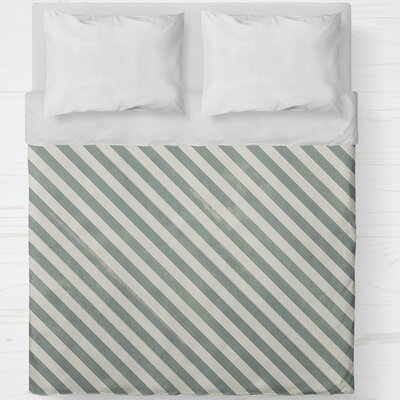 Mellina Lightweight Duvet Cover Size: Queen, Color: Green