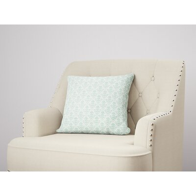 Diana Throw Pillow Color: Green, Size: 24 H x 24 W