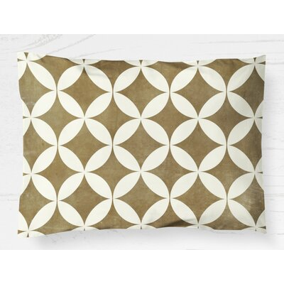 Persephone Lightweight Pillow Sham Color: Mustard, Size: King