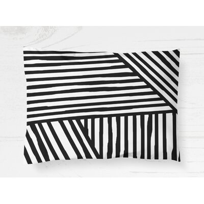 "Domenico Pillow Case Size: 20"" H x 30"" W, Color: Black MCRW6528 43043815"