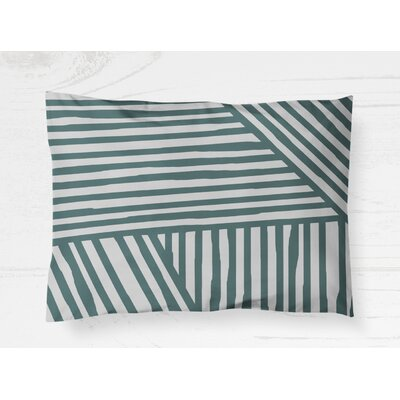 Domenico Pillow Case Size: 20 H x 40 W, Color: Teal