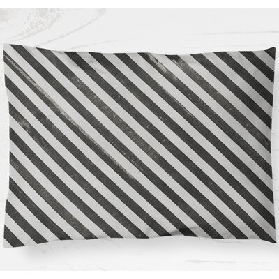 Mellina Lightweight Pillow Sham Color: Black, Size: King