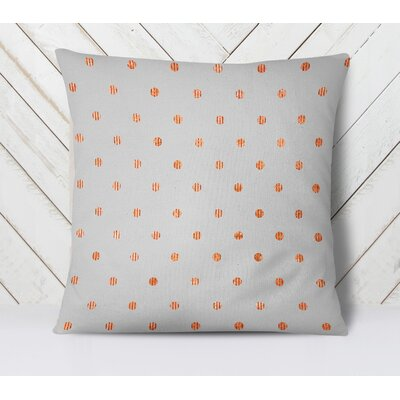 Victoire Throw Pillow Size: 16 H x 16 W, Color: Orange