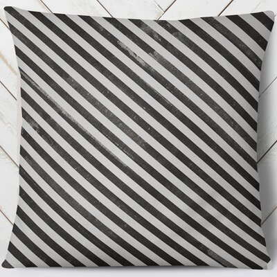 Mellina Throw Pillow Color: Black, Size: 26 H x 26 W