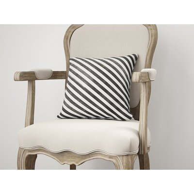 Mellina Throw Pillow Color: Black, Size: 18 H x 18 W