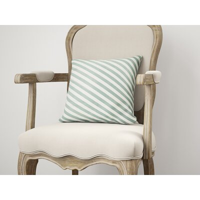 Mellina Throw Pillow Size: 16 H x 16 W, Color: Green