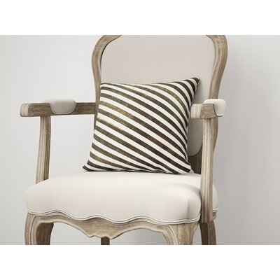 Mellina Throw Pillow Size: 16 H x 16 W, Color: Brown