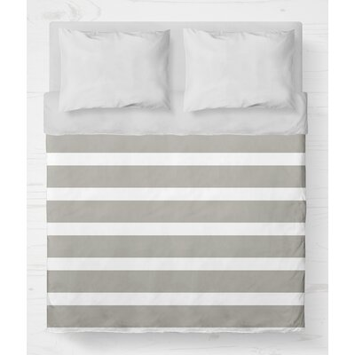Saybrook Lightweight Duvet Cover Size: King, Color: Smoke