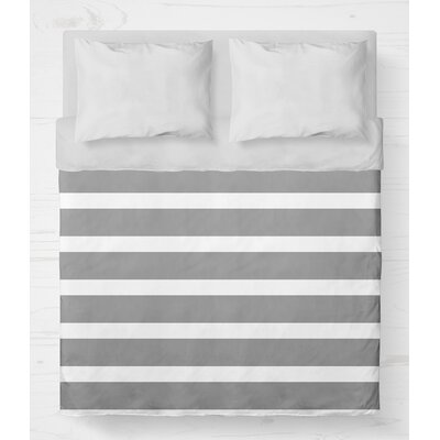 Saybrook Lightweight Duvet Cover Size: Queen, Color: Gray