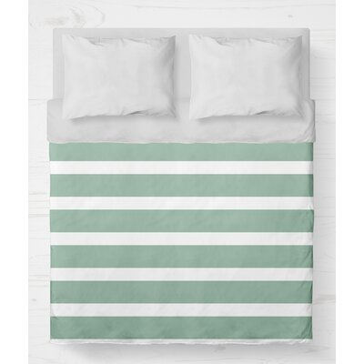 Saybrook Lightweight Duvet Cover Size: Twin, Color: Green