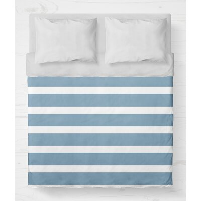 Saybrook Lightweight Duvet Cover Size: King, Color: Blue
