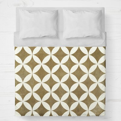 Persephone Lightweight Duvet Cover Color: Mustard, Size: King