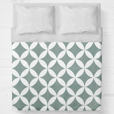 Persephone Lightweight Duvet Cover Size: Queen, Color: Teal