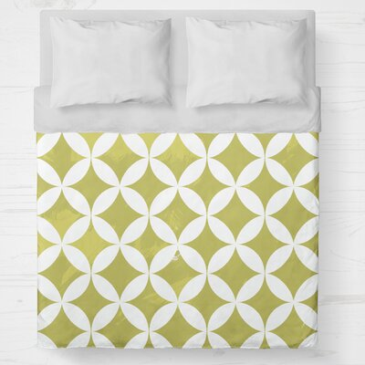 Persephone Lightweight Duvet Cover Size: Queen, Color: Yellow