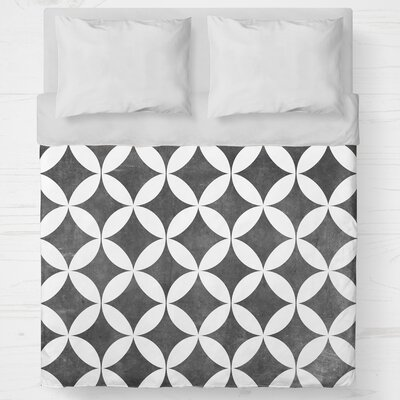 Persephone Lightweight Duvet Cover Size: Twin, Color: Black