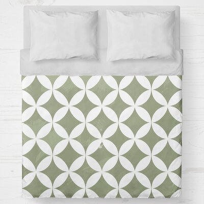 Persephone Lightweight Duvet Cover Size: Queen, Color: Green