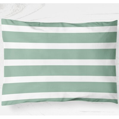 Saybrook Lightweight Pillow Sham Size: Standard, Color: Green