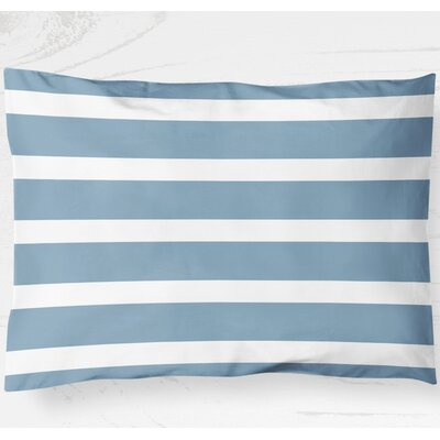 Saybrook Lightweight Pillow Sham Size: King, Color: Blue