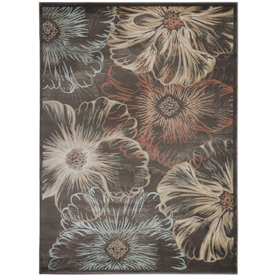 Garda Black/Beige Area Rug Rug Size: Rectangle 53 x 73