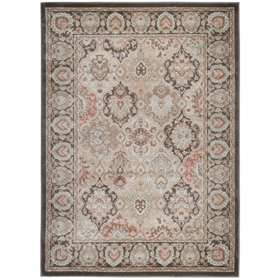 Garda Brown Area Rug Rug Size: 53 x 73