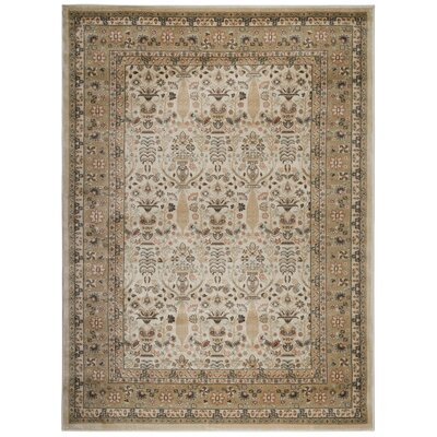 Garda Beige Area Rug Rug Size: Rectangle 53 x 73