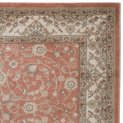 Garda Red Area Rug Rug Size: Rectangle 53 x 73