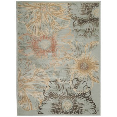 Garda Blue/Beige Area Rug Rug Size: Rectangle 53 x 73