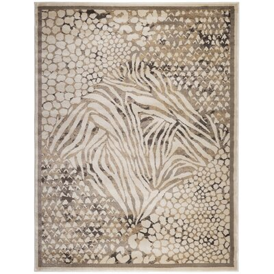 Garda Beige Area Rug Rug Size: Rectangle 5'3