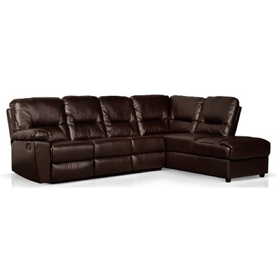 Cillia Reclining Sectional Color: Espresso