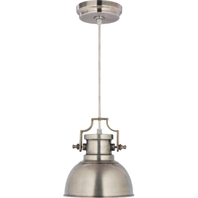 Jules 1-Light Mini Pendant Finish: Antique Nickel
