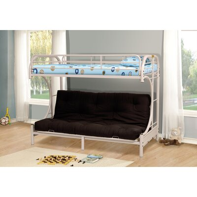 Kalen Twin over Full Futon Bunk Bed Color: White