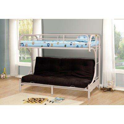 Kalen Twin over Full Futon Bunk Bed Finish: White