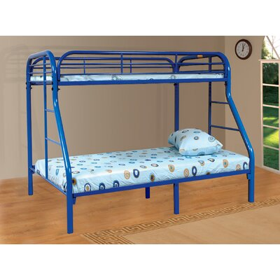 Tanya Twin over Full Bunk Bed Finish: Blue