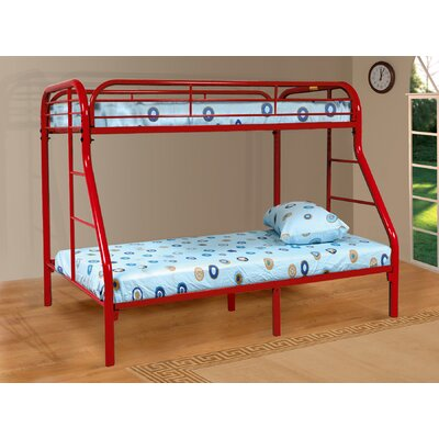 Tanya Twin over Full Bunk Bed Color: Red