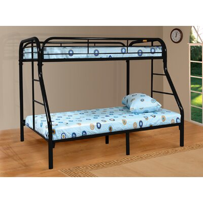 Tanya Twin over Full Bunk Bed Finish: Black