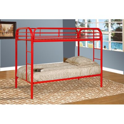 Tanner Twin Bunk Bed Finish: Red