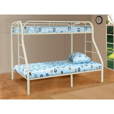 Tanya Twin over Full Bunk Bed Finish: White