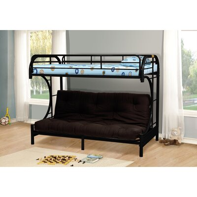 Kalen Twin over Full Futon Bunk Bed Finish: Black