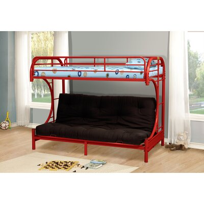 Kalen Twin over Full Futon Bunk Bed Finish: Red
