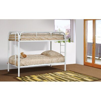 Tanner Twin over Twin Bunk Bed Color: White