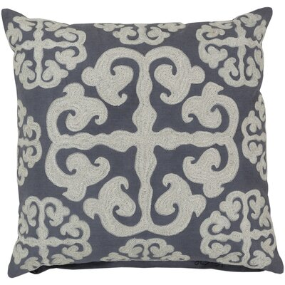 Lush Lattice Throw Pillow Size: 18, Color: Blue Flagstone / Papyrus, Filler: Down