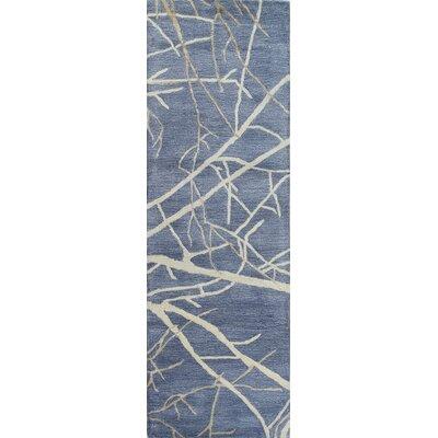 Trees in Winter Denim Area Rug Rug Size: Runner 26 x 8